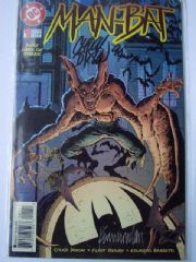Man-Bat #1 Dynamic Forces DF Signed Re-marked Nowlan, Dixon & Henry COA Ltd 750